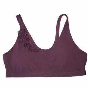 Fabletics Athletic Sports Bra Plum Women's XL